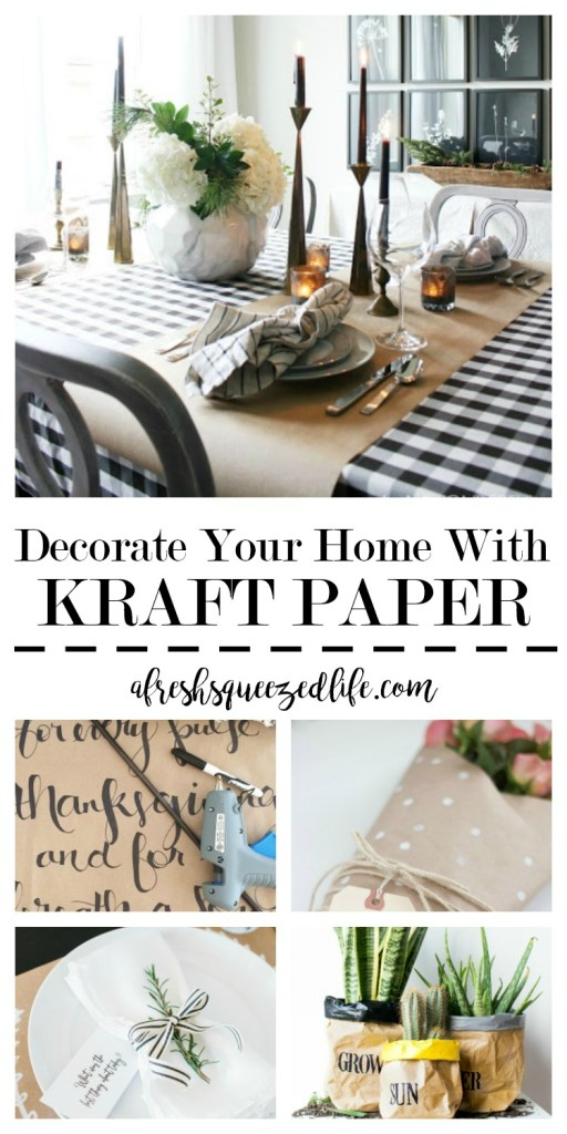 Saving money is key in my love for DIY, but when a super cheap project comes along, I am all in! Let's check out how to decorate your home with Kraft Paper! DECORATE YOUR HOME WITH KRAFT PAPER