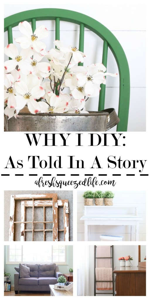A home is a place that can be easily made your own with craft and DIY projects. A life is the same. Let me tell you why I DIY! WHY I DIY
