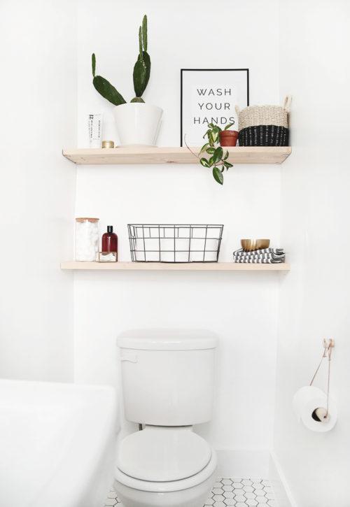 How To Make Diy Bathroom Shelves A Fresh Squeezed Life