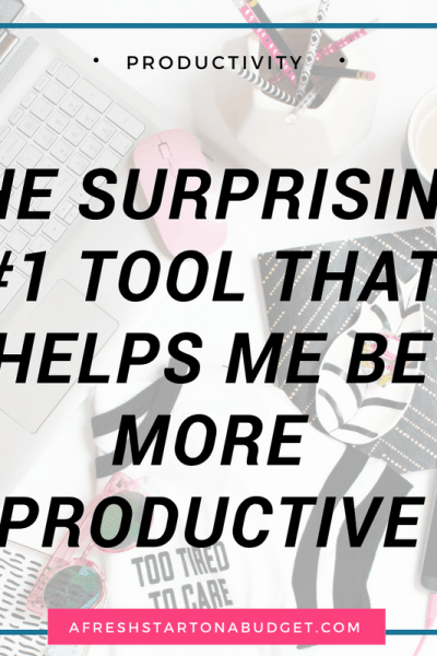 The surprising #1 tool that helps me be more productive