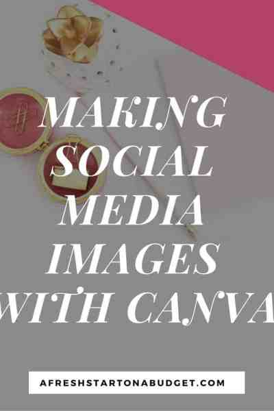 Making social media images with Canva