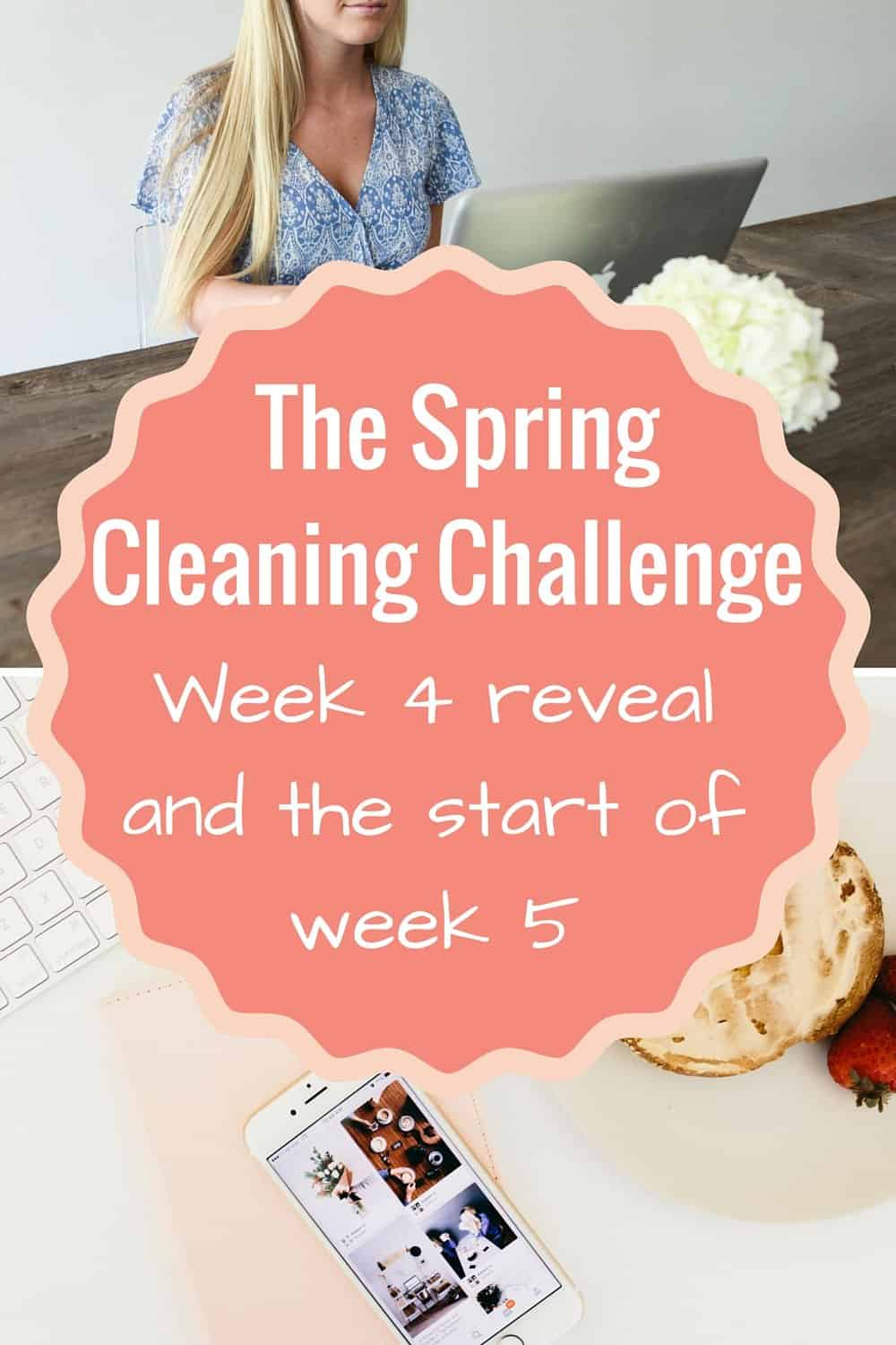 The Spring Cleaning Challenge Week 4 reveal and the start of week 5