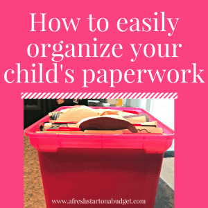 How to easily organize your child's paperwork