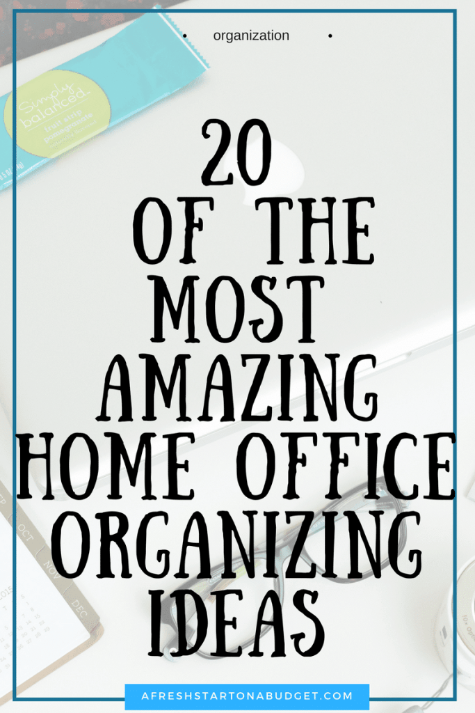 20 of the most amazing Home Office Organizing Ideas