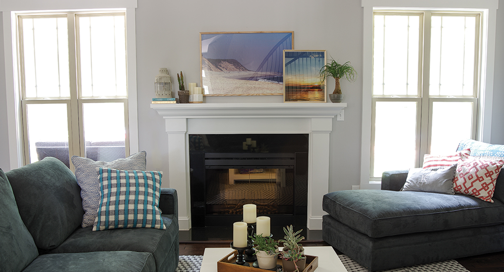 Living Room Refresh - Summer Mantle Seascape