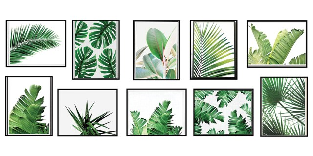 Etsy Tropcial Palm Prints