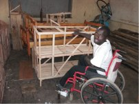 Capentry works made by the physically impaired in Kabale (Empowerment)