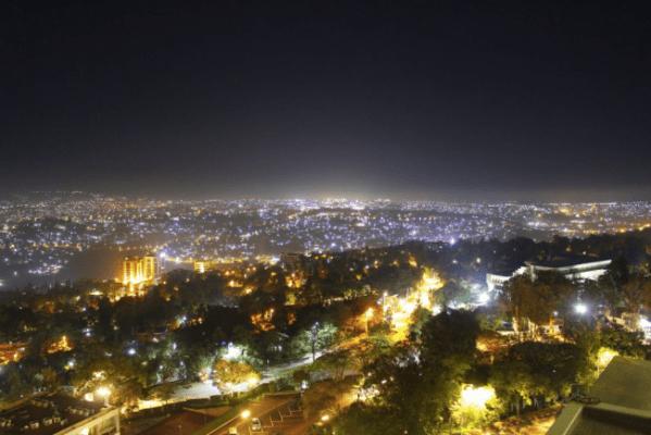 ルワンダの夜景