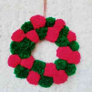 Green and Red bubble Yarn