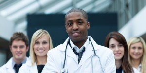 african-american-doctor-in-front-of-group