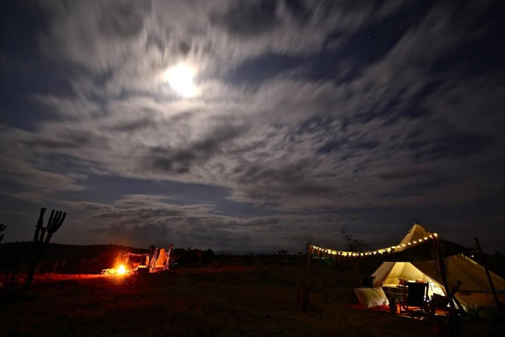 Sieku Glamping at night in Kenya