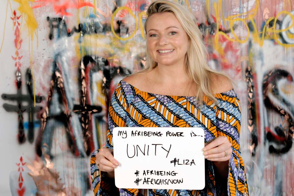 Liza Weschta Co-founder Afribeing says her power is unity