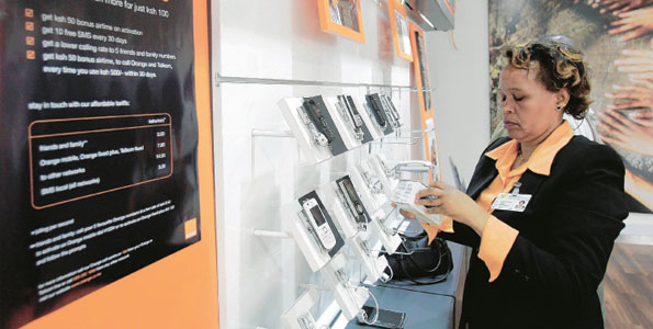Inside an Orange Shop – Telecom Kenya