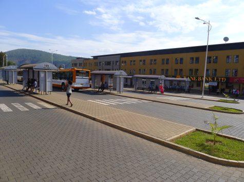 Bus terminal in Kigali
