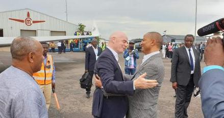 Anniversaire de TP Mazembe: le président de la FIFA Infantino est arrivé à Lubumbashi