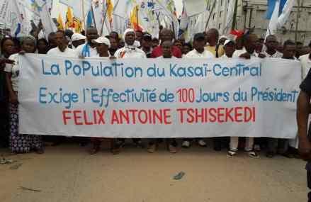 Kasaï-Central : le programme d'urgence de Félix Tshisekedi piétiné , UDPS-Tshisekedi , PPRD de Kabila, ECIDE de Fayulu… étaient dans la rue pour exiger l'effectivité des travaux et alerter sur un détournement des fonds
