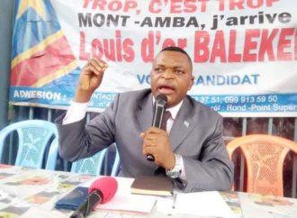 Accident de By pass: Louis d'or Balekelayi demande à la population de Mont Amba à sanctionner les élus de cette circonscription pour leur «complicité et passivité-irresponsabilité»