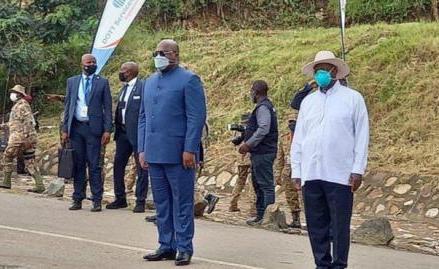 Coopération : les travaux de construction de plus de 200 Km des routes au Nord-Kivu lancés par Tshisekedi et Museveni