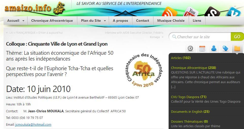 Colloque : Cinquante Ville de Lyon et Grand Lyon