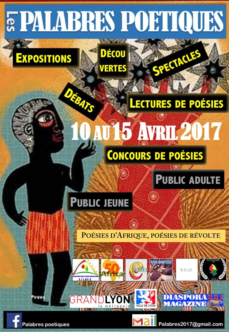 Les palabres poétiques du 10 au 15 avril 2017 à Lyon