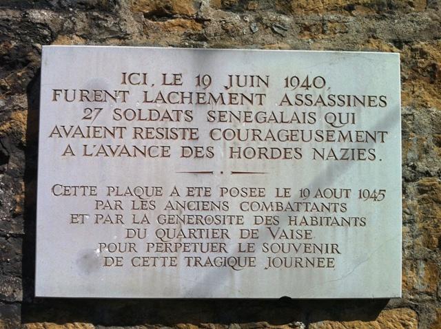[MEMOIRE] Hommage annuel Lundi 18 juin 2018 aux Tirailleurs fusillés par les nazis à la Montée Balmont (Lyon 9e)