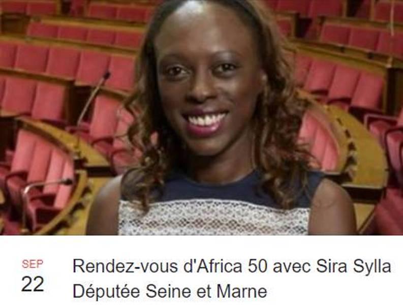 [RENCONTRE] Rendez-vous d'Africa 50 avec Sira Sylla Députée de de Seine et Marne le 22 septembre à Villeurbanne
