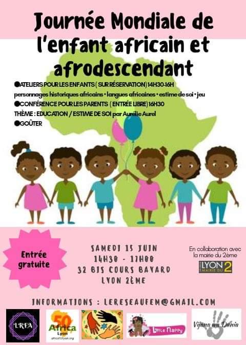 [ENFANTS] Journée Mondiale de l'enfant Africain samedi 15 juin 2019 à Lyon – Inscrivez votre enfant