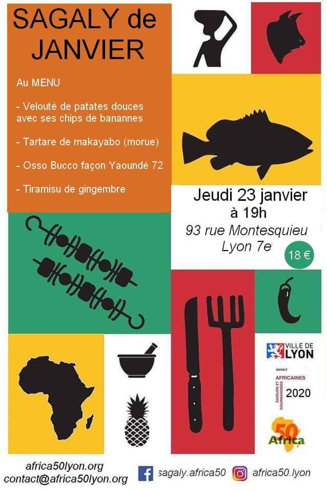 [CUISINE] Sagaly Janvier Velouté de patates douces Tartare de makayabo – Jeudi 23 janvier 2020 à Lyon