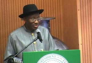 Good Jonathan: seeks a second term