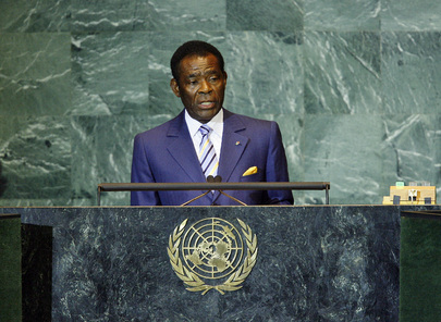 President Teodoro Obiang Nguema Mbasogo:is now working to serve as a pillar of stability and security in its region