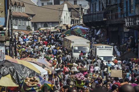 Economic growth in Sierra Leone is slowing as a result of the Ebola crisis