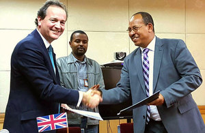 Signing of Energy Africa agreement with the government of Ethiopia at African Union Summit.