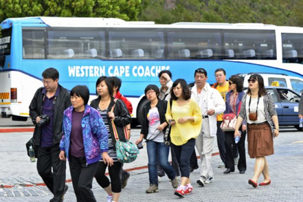 Chinese arrivals fell by 23 percent in 2014