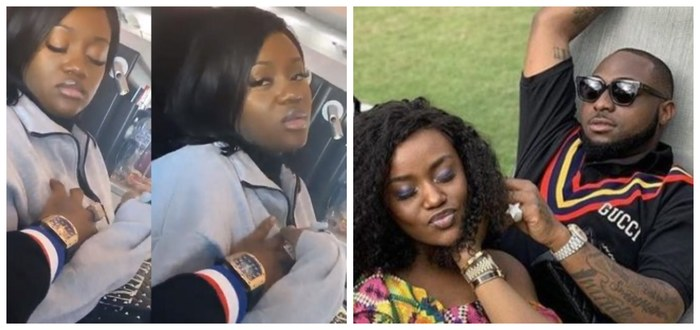 Chioma Almost In Tears As Davido Fondles Her Motherly Bo*bs (Video)