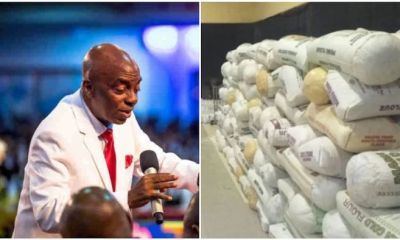 Bishop Oyedepo gives free food to residents of Ogun State