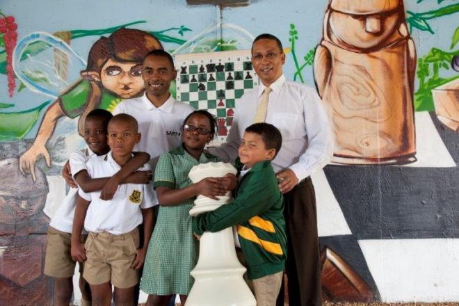 Spending time with the future chess masters