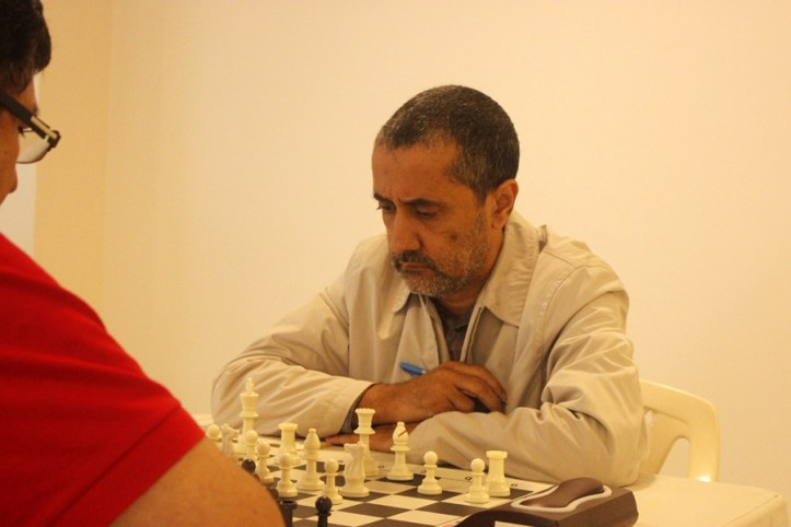 Nairobi Chess Club Chairman Kim Bhari was seen playing alongside 3 of his clubmates / Photo by Paras Gudka