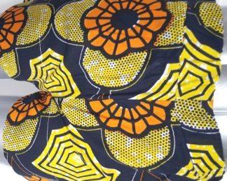 mini short yellow black africadada