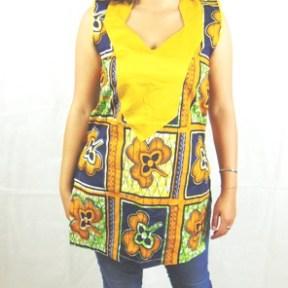 woman shirt african fabric