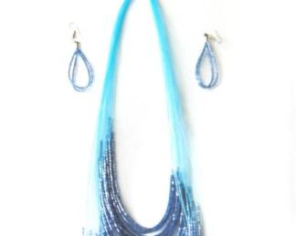 collier bleu claire africadada