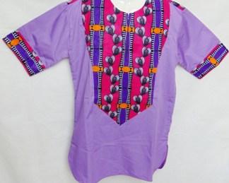 chemisette t-shirt violette africadada