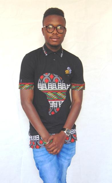africadada polo men african fabric design