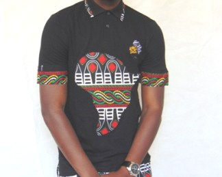 africadada polo men african fabric design