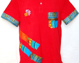 polo shirt red with pocket
