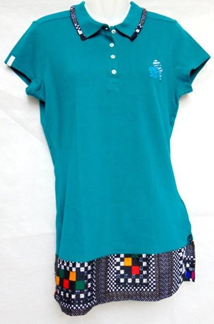 woman green polo africadada design