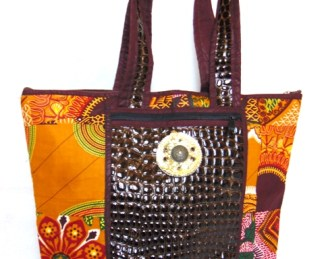 woman hand bag orange-brown