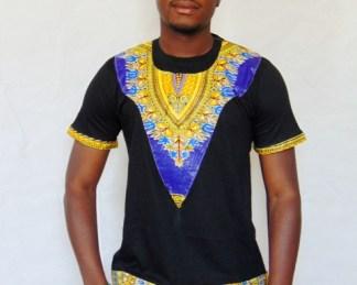 t-shirt black v design