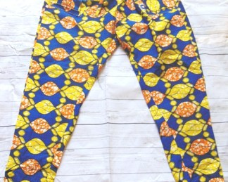 yellow blu pants men african fabric