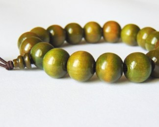 African Bracelet Green Beads