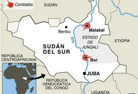 Resultado de imagen de MAPA DE SUDAN DEL SUR